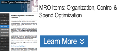 Click for MRO Items: Organization, Control & Spend Optimization