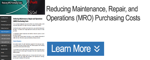 Click for Reducing Maintenance, Repair and Operations Purchasing Costs